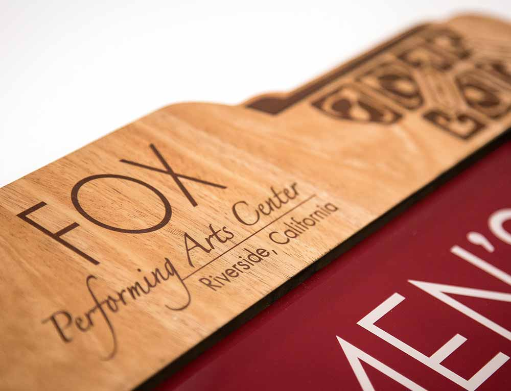 Fox Performing Arts Center Custom Print & Cut Wood Signage
