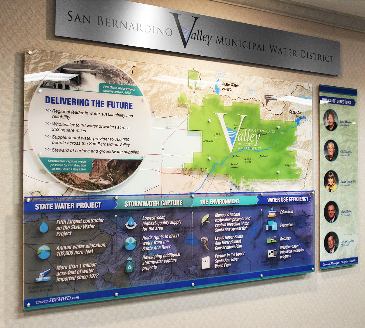 San Bernardino Valley Municipal Water District Acrylic Display