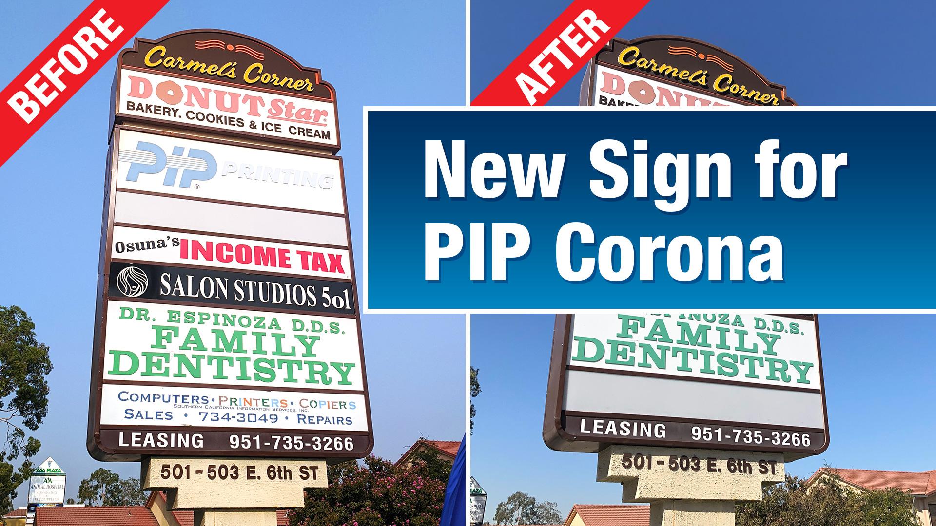 New PIP Corona Sign