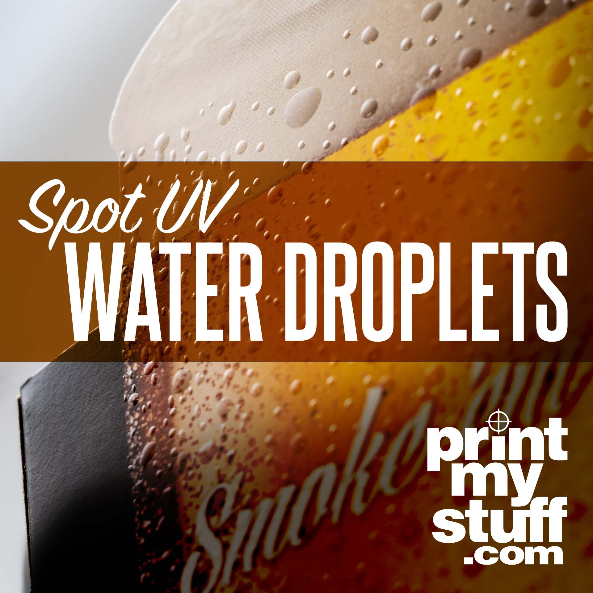 Table Tent: Spot UV Water Droplets